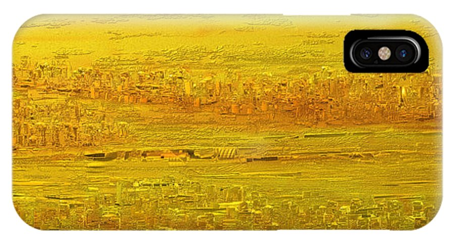 Scenic IPhone X Case featuring the painting Panorama 2 by Rabi Khan