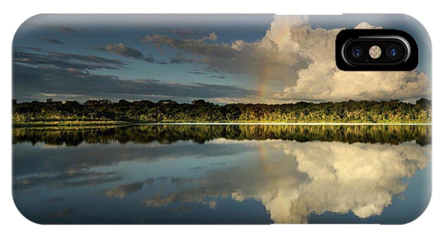 Amazonia IPhone X Case featuring the photograph Panorama, Anangurocha Lake, Lagoon by Christian Heeb