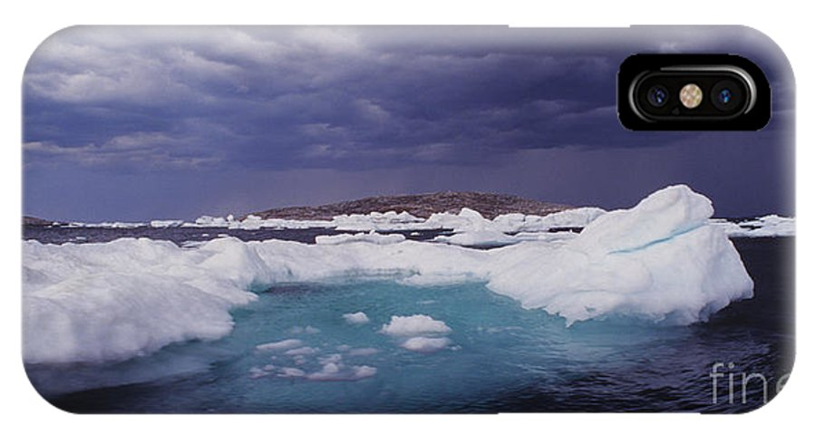North America IPhone X Case featuring the photograph Panorama Ice Floes In A Stormy Sea Wager Bay Canada by Dave Welling