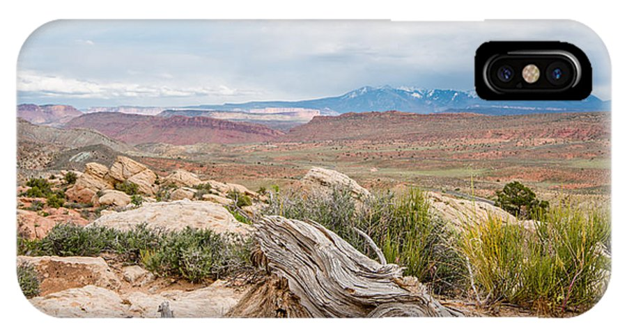 Adventure IPhone X Case featuring the photograph Panorama Point - La Sal Mountains - Arches National Park - Ut by Steve Lagreca