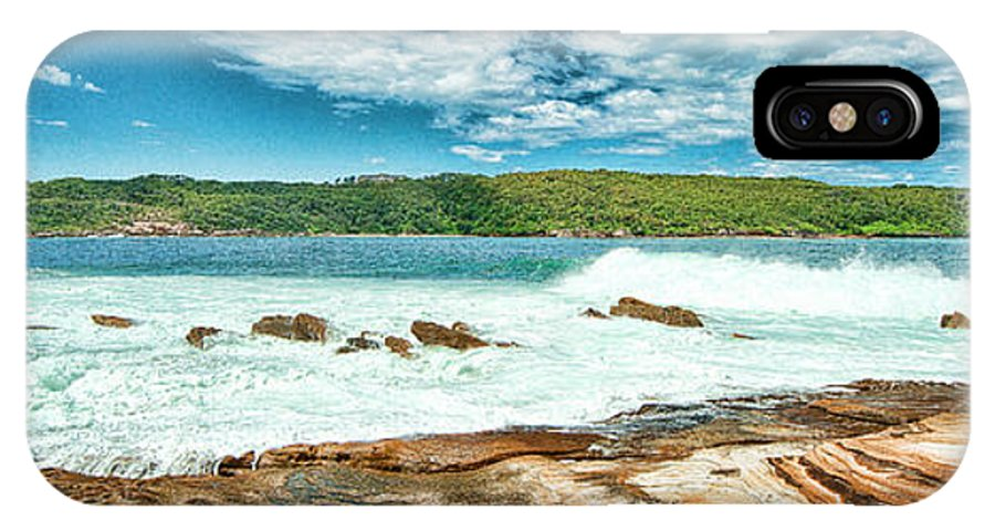 Yewkwang IPhone X Case featuring the photograph Panoramic Photo Of La Perouse by Yew Kwang