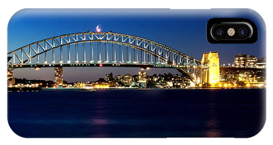 Yewkwang IPhone X Case featuring the photograph Panoramic Photo Of Sydney Night Scenery by Yew Kwang
