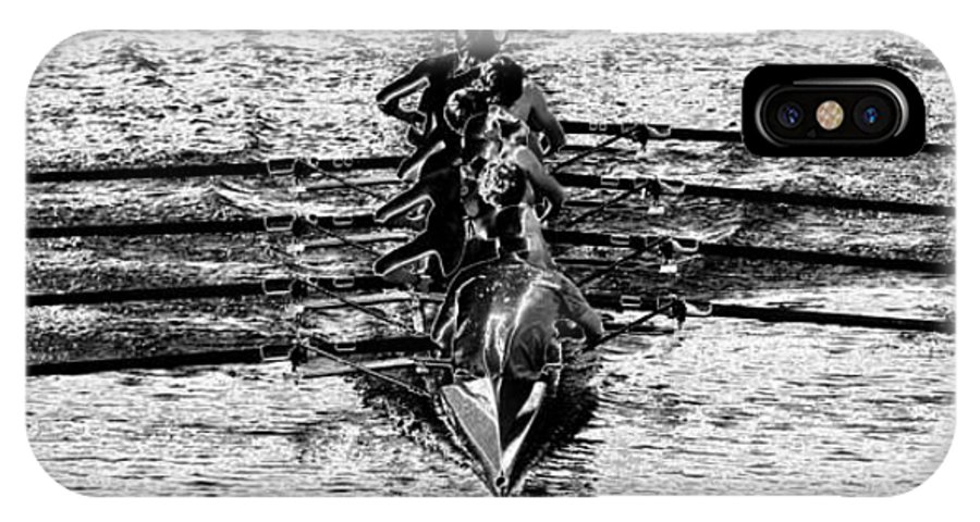 Panoramic Photography IPhone X Case featuring the photograph Panoramic Rowing by David Lee Thompson