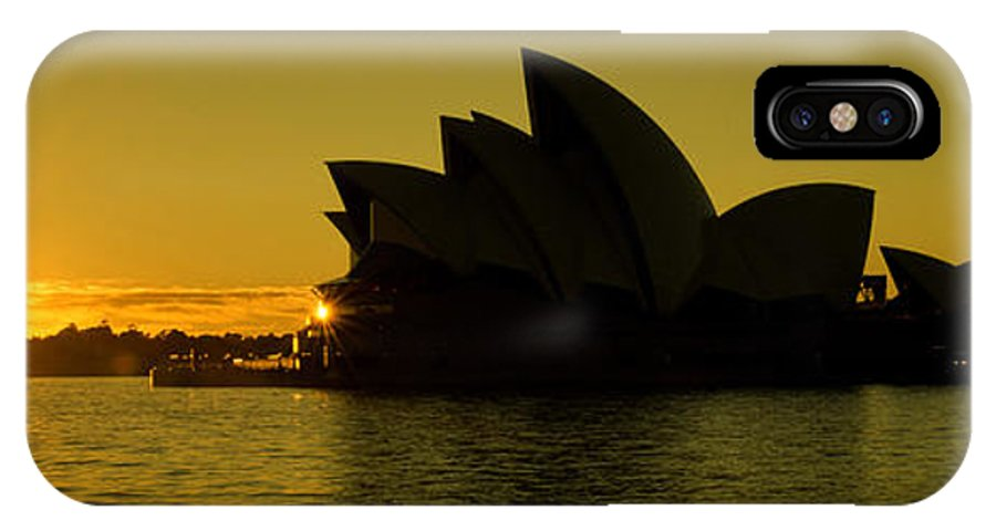 Yewkwang IPhone X Case featuring the photograph Panoramic View Of Sunrise At Sydney Opera House by Yew Kwang