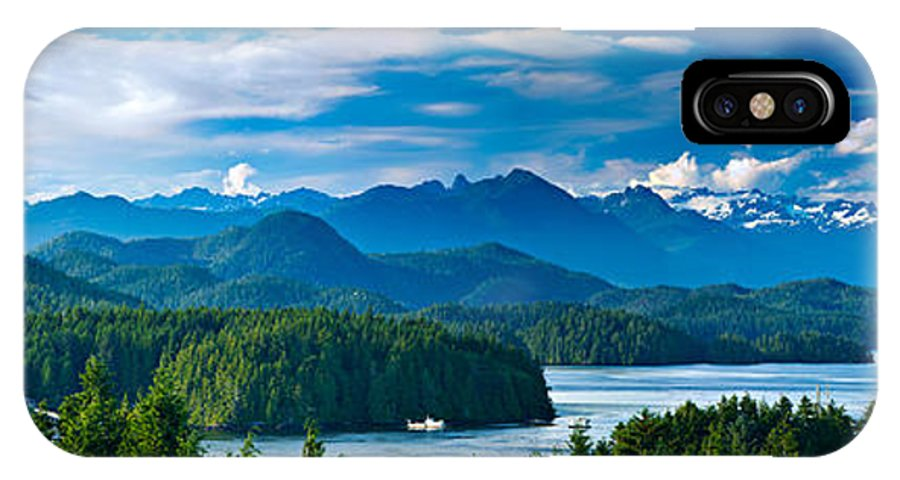 Tofino IPhone X Case featuring the photograph Panoramic View Of Tofino Vancouver Island Canada by Mark Skalny