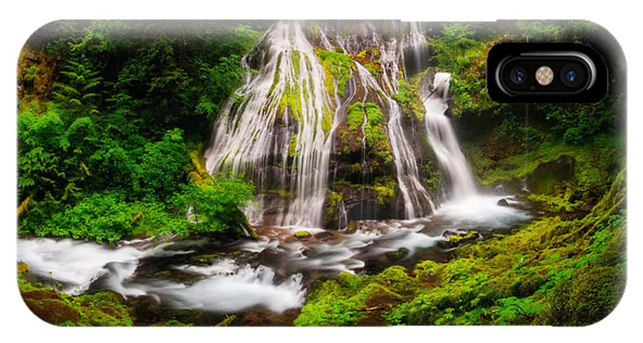 Panther Falls IPhone X Case featuring the photograph Panther Falls by Marcio Cabral