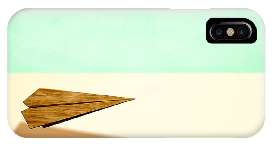 Aircraft IPhone X Case featuring the photograph Paper Airplanes Of Wood 9 by YoPedro