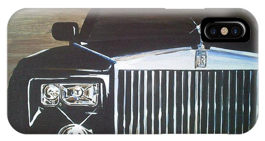 Rolls Royce IPhone X Case featuring the painting Par De Elegance Rolls Royce Phantom by Richard John Holden RA