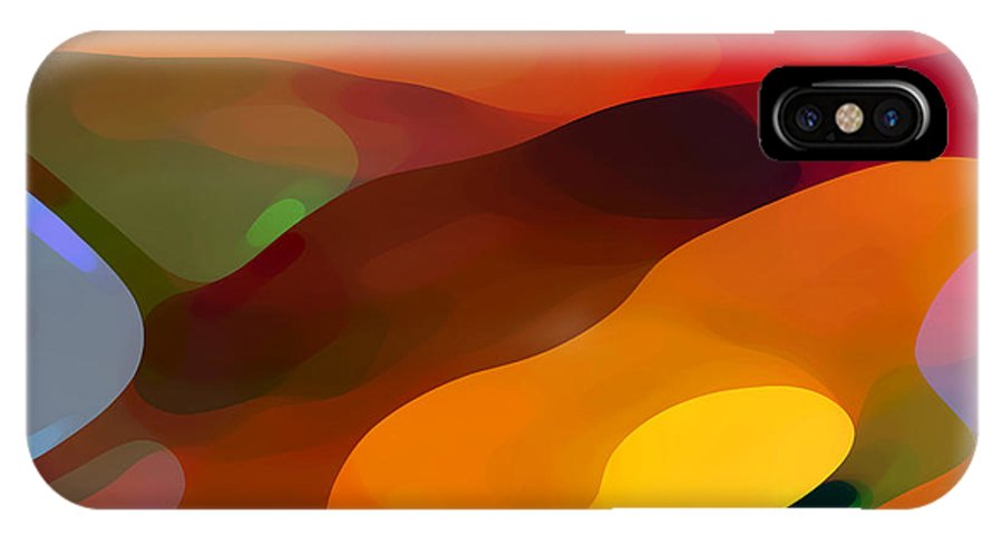 Abstract IPhone X Case featuring the painting Paradise Found by Amy Vangsgard