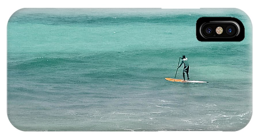 Paddle IPhone X Case featuring the photograph Paradise Paddle Boarding by Lee Wilson