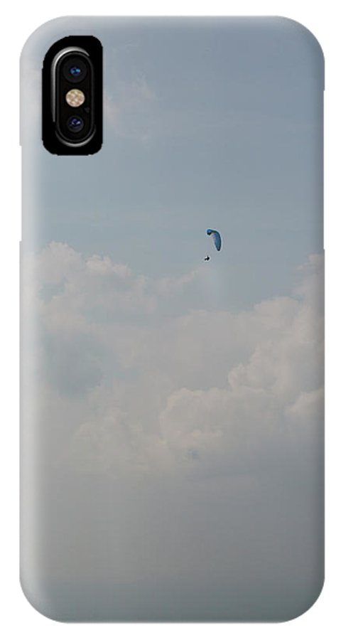 Landscape IPhone X Case featuring the photograph Paraglider In The Sky In Front by Sebastian Kujas