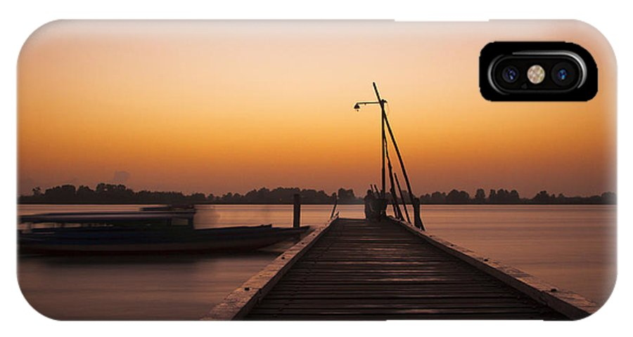 Landscape IPhone X Case featuring the photograph Paramaribo River by Lionel Emanuelson