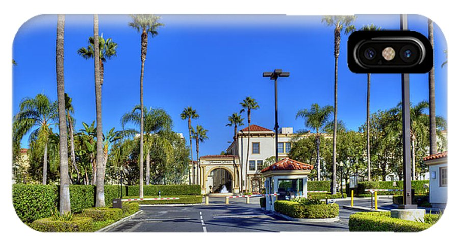 Paramount Studios IPhone X Case featuring the photograph Paramount Movie Studio Hollywood Ca 3 by David Zanzinger
