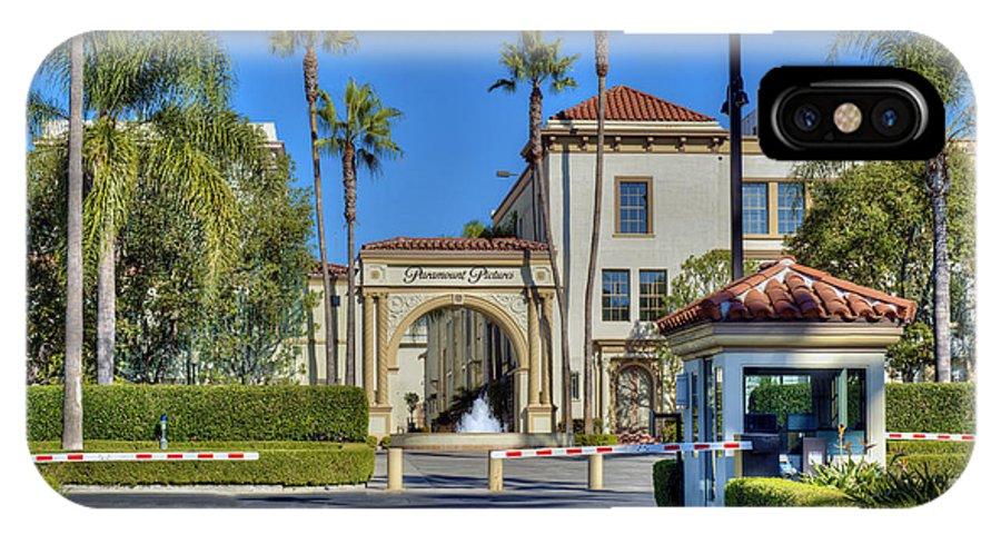 Paramount Studios IPhone X Case featuring the photograph Paramount Studios Hollywood Movie Studio by David Zanzinger