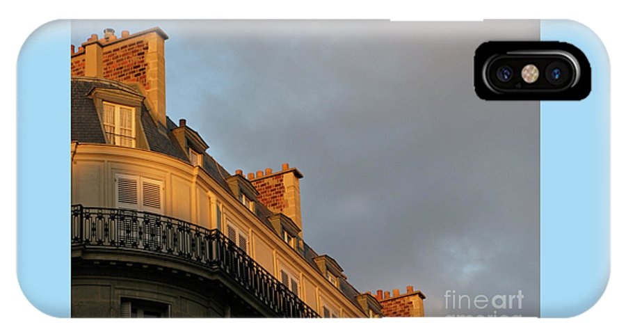Paris IPhone X / XS Case featuring the photograph Paris At Sunset by Ann Horn