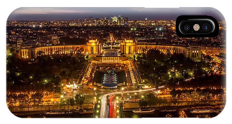 View IPhone X Case featuring the photograph Paris City From The Eiffel Tower by Pierre Leclerc Photography