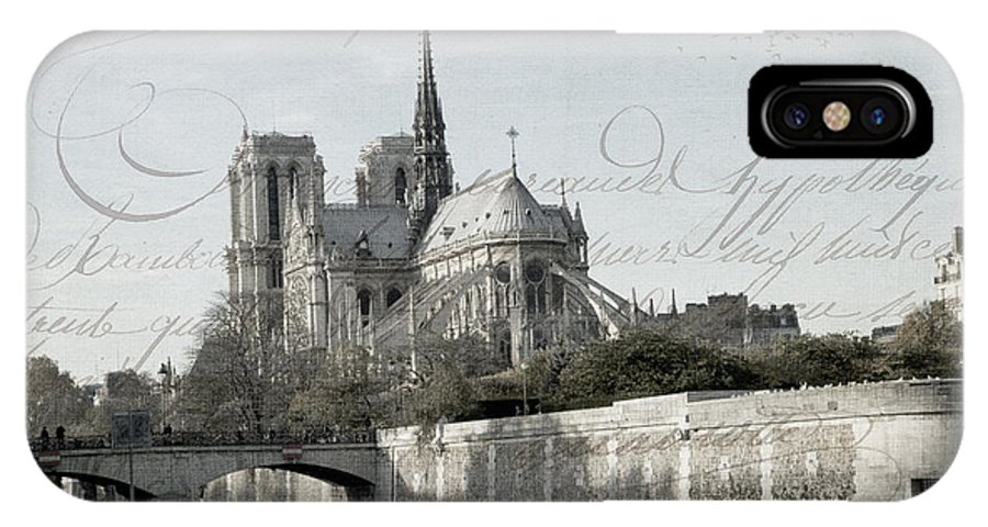 Evie IPhone X / XS Case featuring the photograph Paris History by Evie Carrier