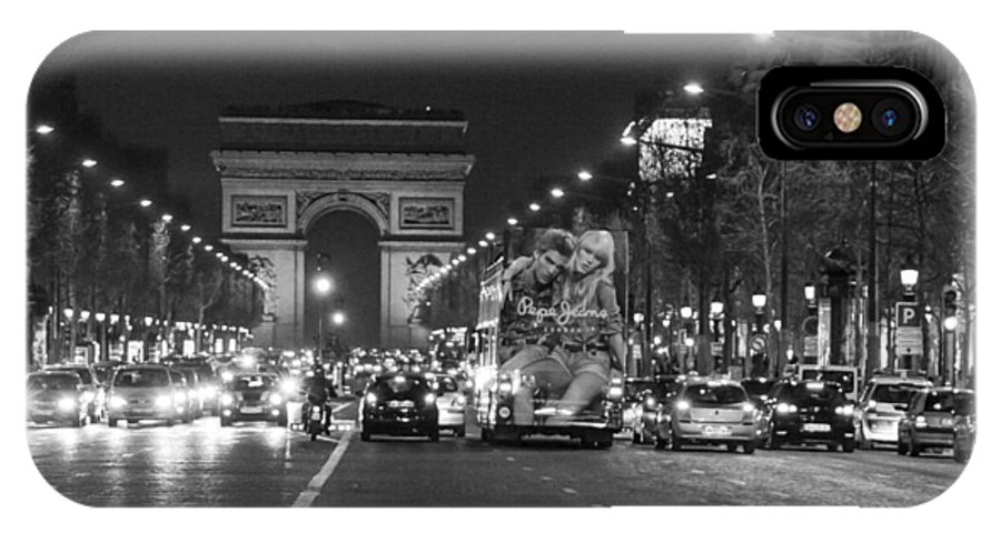 France IPhone X Case featuring the photograph Paris Street by Frank Molina