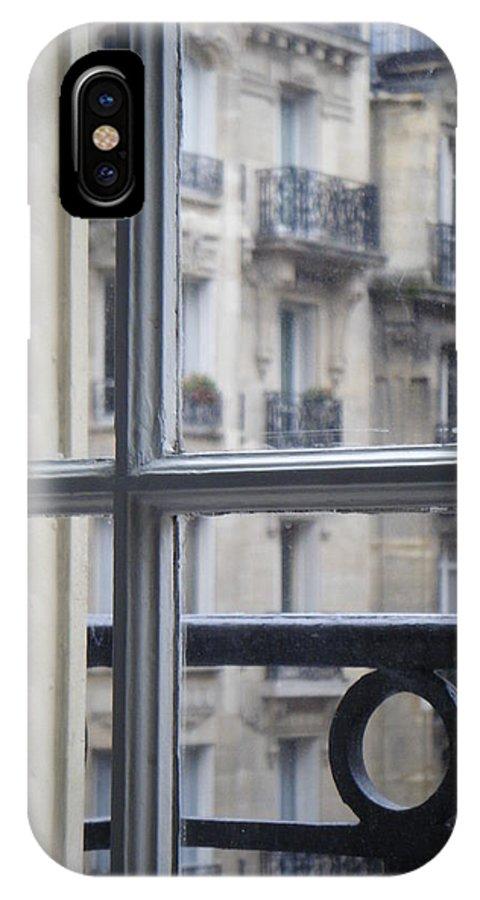 Paris IPhone X Case featuring the photograph Paris Window by David McCadden