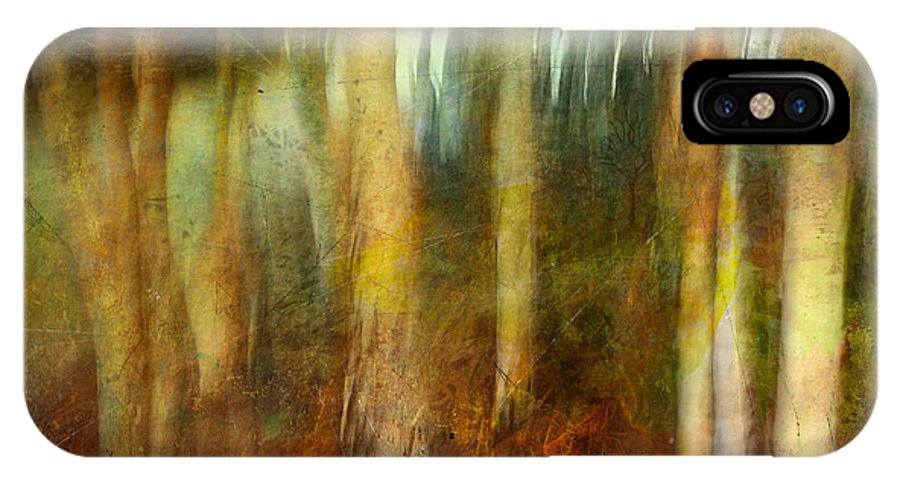Digital IPhone X Case featuring the photograph Park #8. Memory Of Trees by Alfredo Gonzalez