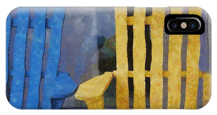 Chair IPhone X Case featuring the painting Parking Spot by Jeffrey Kolker