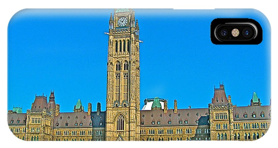 Parliament Building In Ottawa IPhone X Case featuring the photograph Parliament Building In Ottawa-on by Ruth Hager