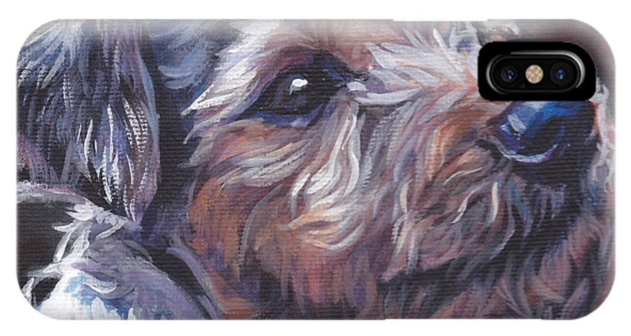 Parson Russell Terrier IPhone X Case featuring the painting Parson Russell Terrier by Lee Ann Shepard