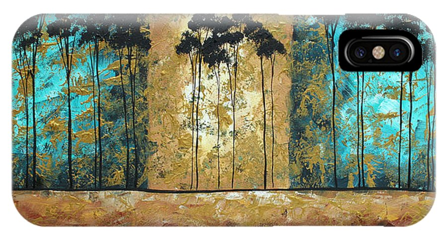 Art IPhone X Case featuring the painting Parting Of Ways By Madart by Megan Duncanson