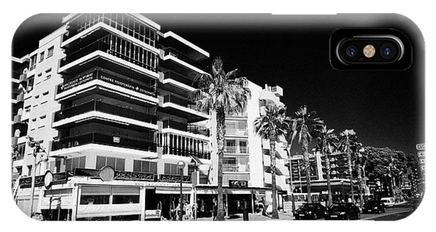 Passeig IPhone X Case featuring the photograph Passeig De Jaume 1 Seafront Road And Properties Salou Catalonia Spain by Joe Fox