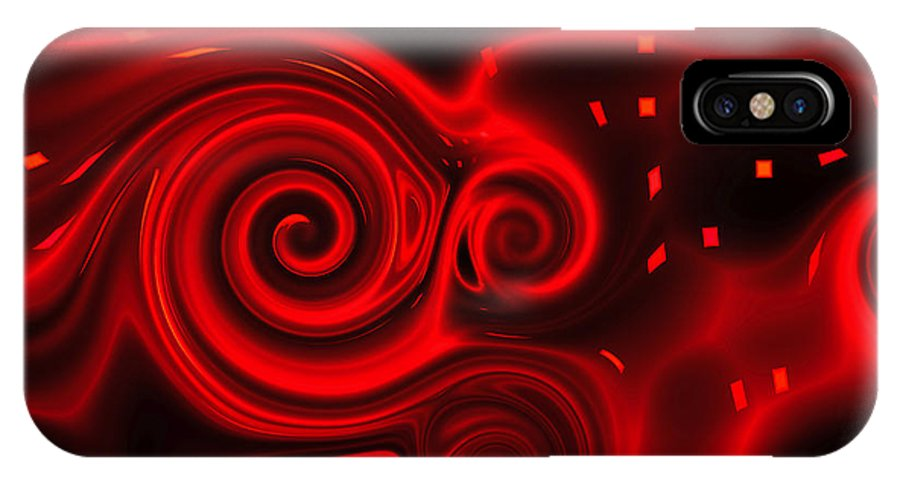 Passion IPhone X Case featuring the digital art Passion by Judi Suni Hall