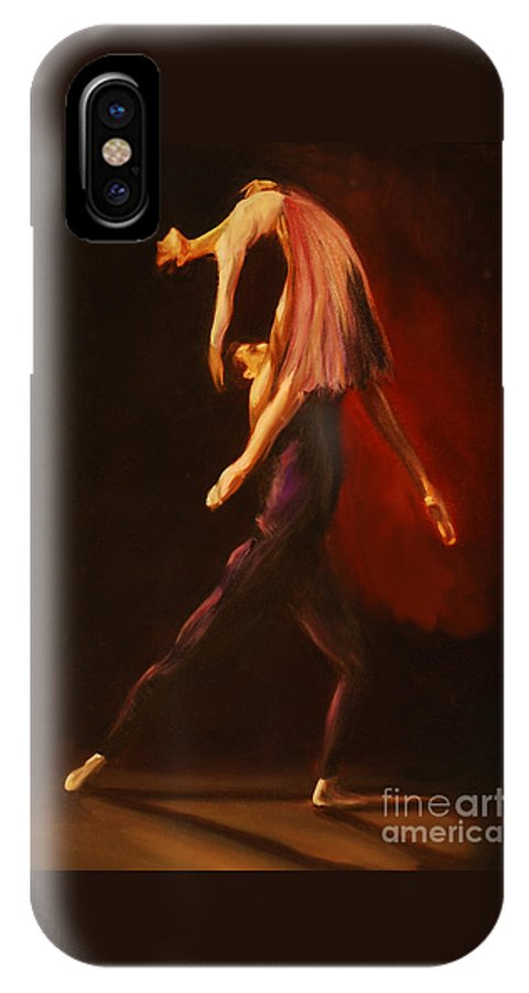 Ballet IPhone X Case featuring the painting Passion by Nancy Bradley