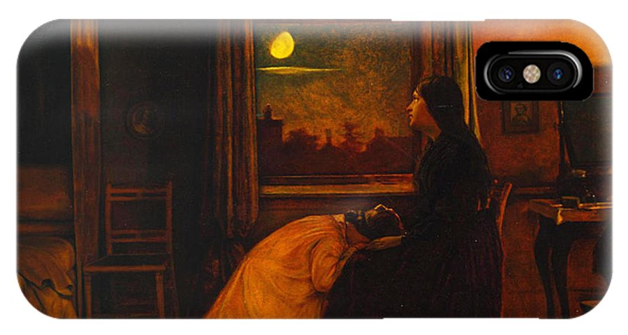 Augustus Leopold Egg IPhone X / XS Case featuring the painting Past And Present by Celestial Images