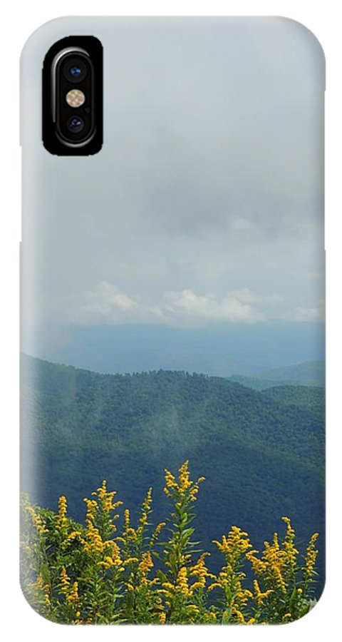 Blue Ridge Mountain IPhone X Case featuring the photograph Past The Mountains by Judy Waller