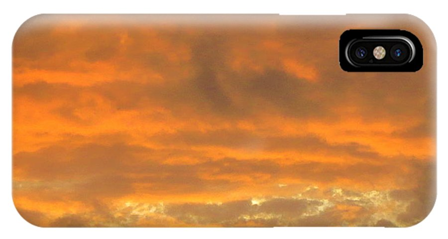 Pastel And Serene Sunset 2 IPhone X Case featuring the photograph Pastel And Serene Sunset 2 by Robert Birkenes