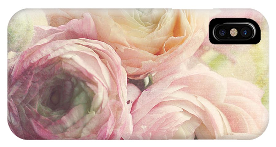 Ranunculus IPhone X Case featuring the photograph Pastels by Sylvia Cook