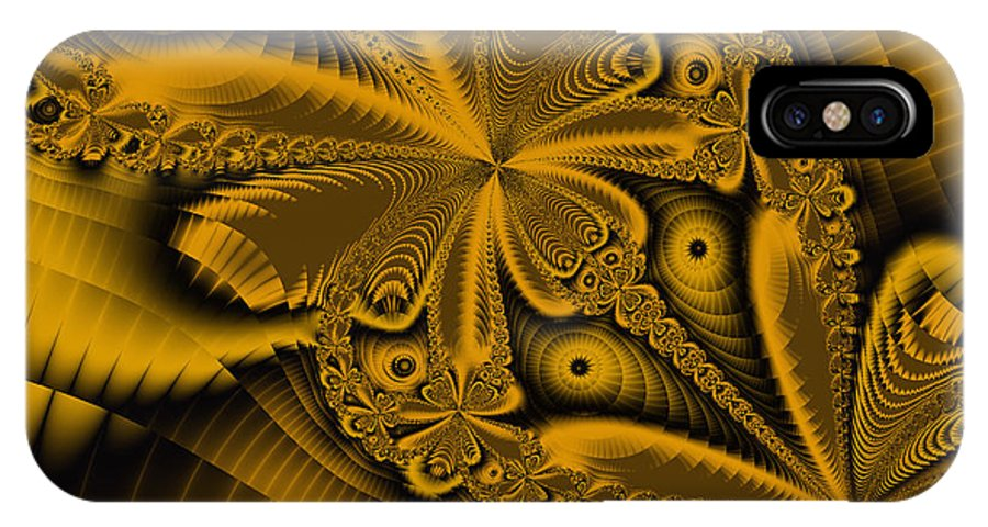 Fractal Art IPhone X Case featuring the digital art Paths Of Possibility by Elizabeth McTaggart