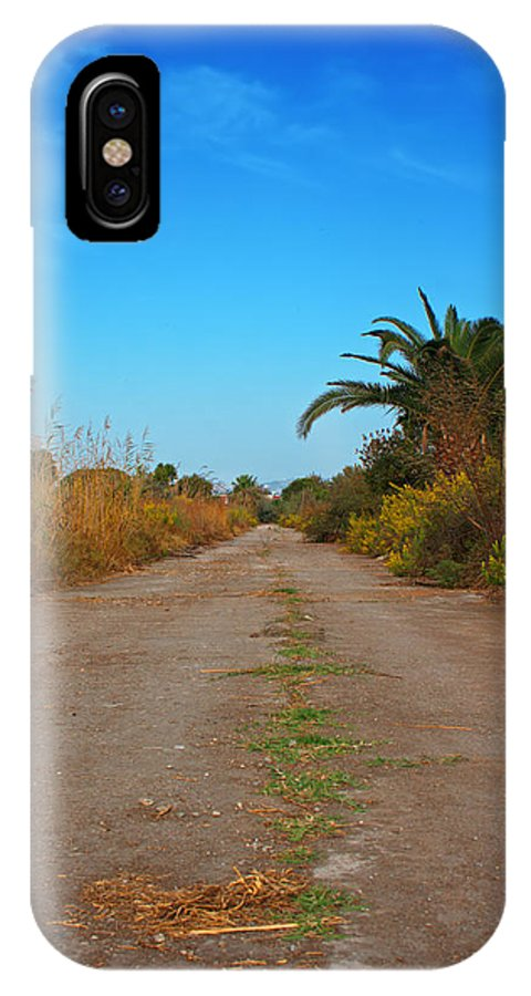 Path IPhone X Case featuring the photograph Pathway Through Colorful Fall Autumn Foliage by Ken Biggs