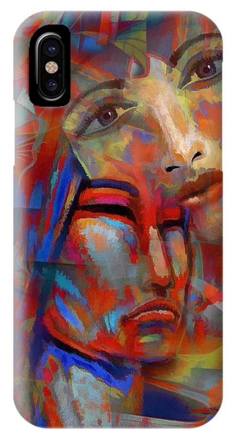 Digital Art IPhone X Case featuring the digital art Patricia's Empathy by Robert Maestas
