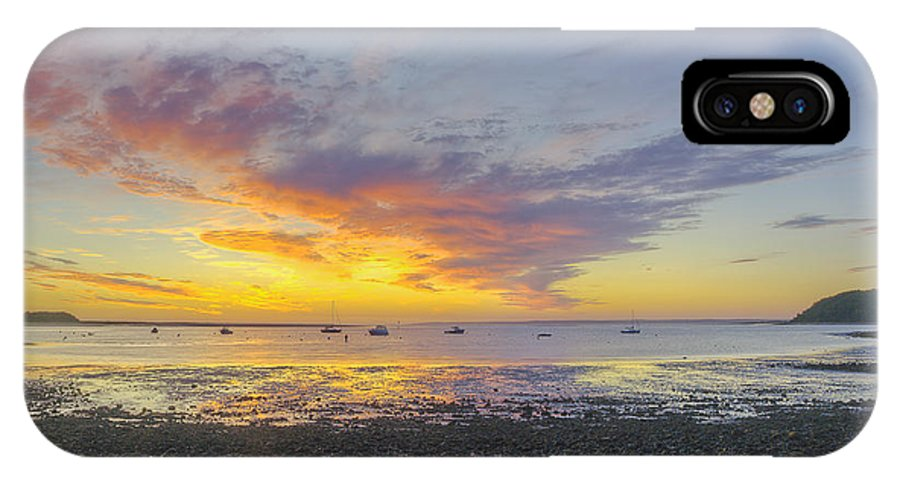 Ipswich IPhone X Case featuring the photograph Pavilion Sunrise by David Stone