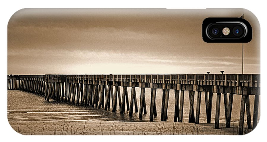 Art Prints IPhone X Case featuring the photograph Pc Beach Pier by Dave Bosse