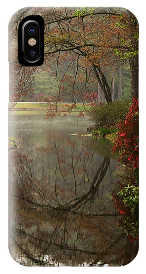 Callaway IPhone X / XS Case featuring the photograph Peace In A Garden by Kathy Clark