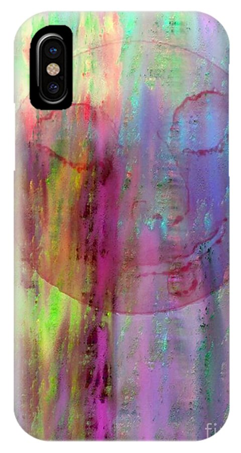 Lawrence Nusbaum IPhone X Case featuring the digital art Peace by Lawrence Nusbaum