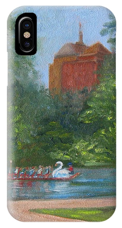 Boston IPhone X / XS Case featuring the painting Peaceful Escape by Claire Norris