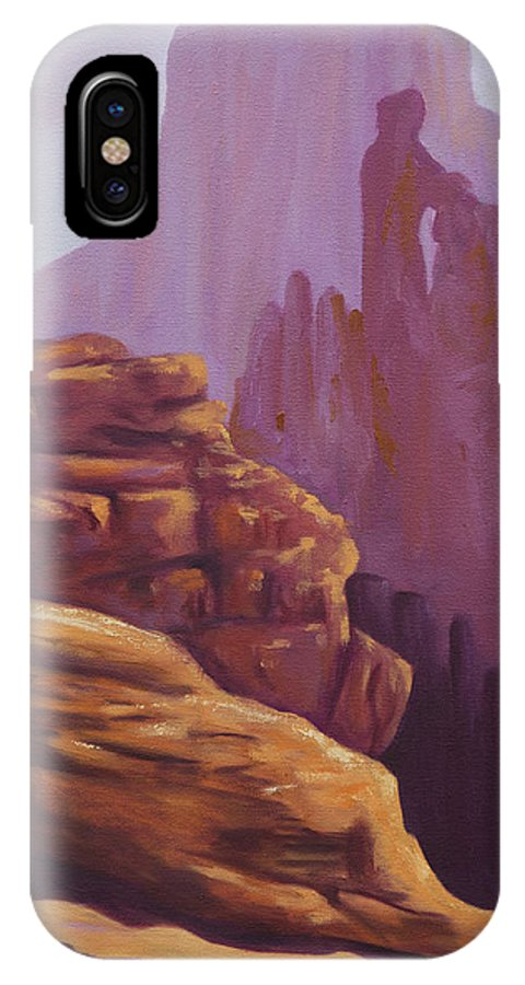 Grand Canyon IPhone X Case featuring the painting Peaceful Morning by Kristin Whitney
