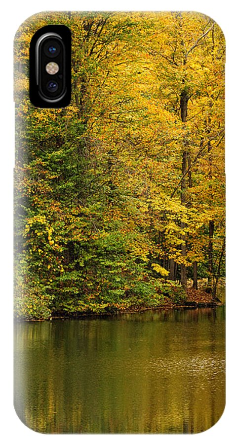 Baldwinsville IPhone X Case featuring the photograph Peaceful Pond by Don Dennis