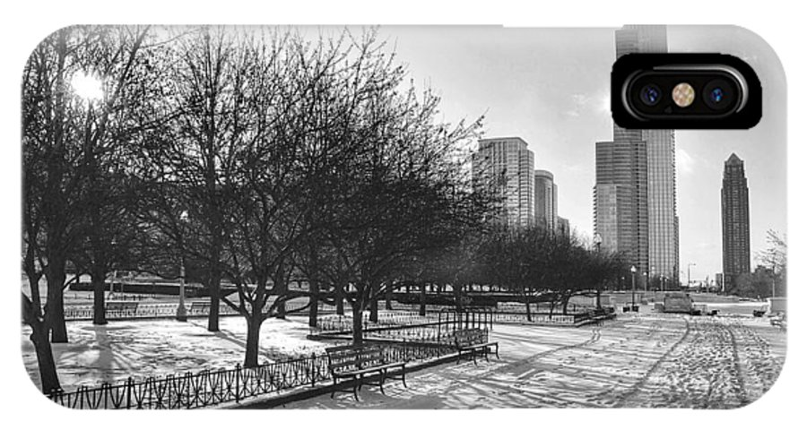 Chicago IPhone X Case featuring the photograph Peaceful Side Of Chicago by Nikki Watson  McInnes