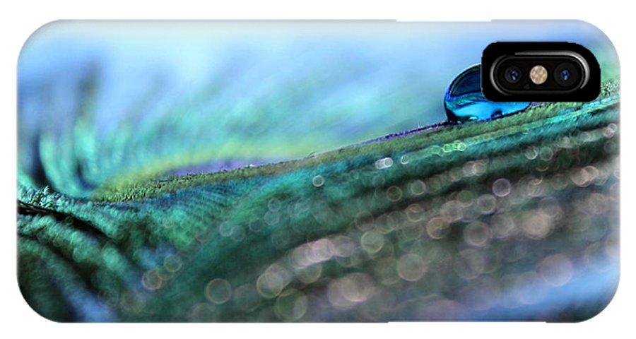Peacock Feather IPhone X Case featuring the photograph Peacock Tear by Krissy Katsimbras