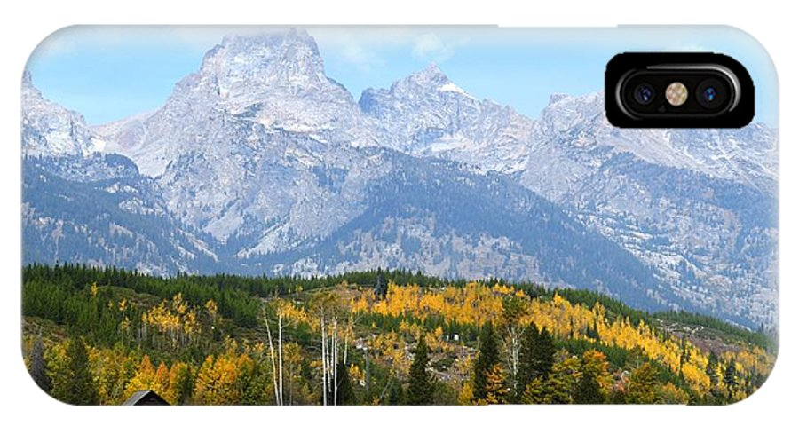 Tetons IPhone X / XS Case featuring the photograph Peak Cloud by Deanna Cagle