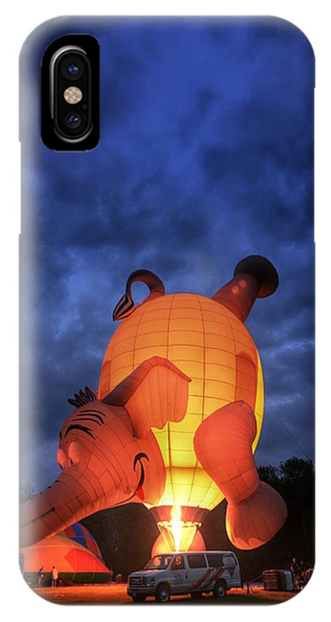 Hot Air Balloon IPhone X Case featuring the photograph Peanut Power by Heather Reichel