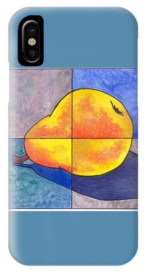Pear IPhone Case featuring the painting Pear I by Micah Guenther